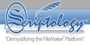 Scriptology Logo: FileMaker Templates, Resources & Tools